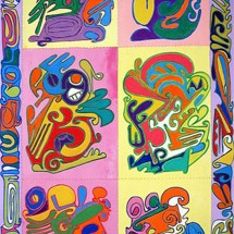 2008 - 98 x 52 inches - Acrylic and stitching on canvas
