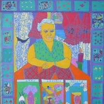 1998 - 44 x 55 inches - Acrylic and stitching on canvas