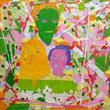 2006 - 157 x 89 inches - Acrylic and stitching on fabric