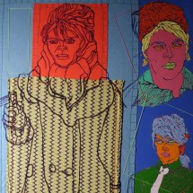 2003 - 72 x 54 inches - Felt, canvas, thread, fabric and acrylic paint