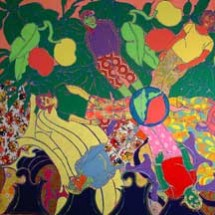 2006 - 7 x 8 feet - Fabric, Acrylic and stitching on canvas