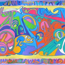 2007 - 93 x 38 - Acrylic and stitching on canvas