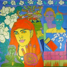 2001 - 80 x 104 inches - Acrylic and stitching on canvas