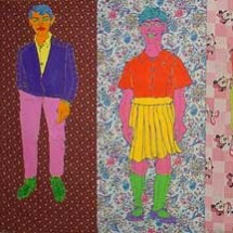 2006 - 200 x 80 inches - Acrylic and stitching on fabric