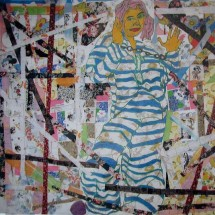 2007 - 78 x 97 inches - Acrylic on canvas and stitching