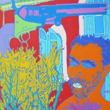 1997 - 64 x 46 inches - Acrylic and stitching on canvas