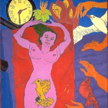 1998 - 78 x 54 inches - Acrylic and stitching on canvas