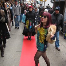 Times Square, Fashion Show for Traffic Cameras