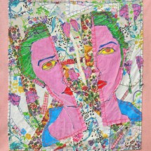 2006 - 39 x 39 inches - Fabric, Acrylic and stitching on Fabric