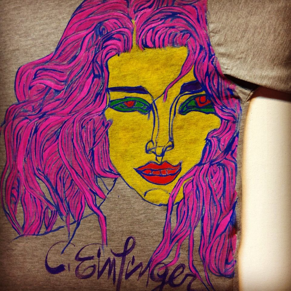 Acrylic on Tshirt