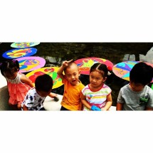 kids pond, acrylic on canvas