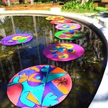 pond, acrylic on canvas